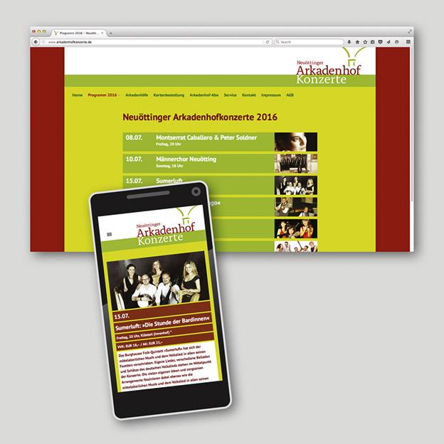 Neuöttinger Arkadenhofkonzerte, Web