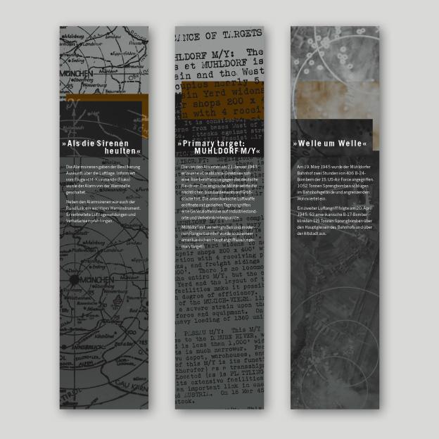 Ausstellung »Rauch und Staub«, Textilbanner