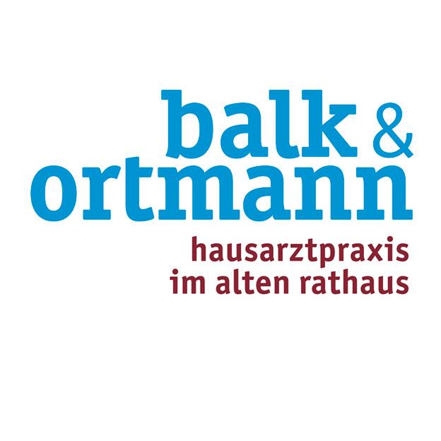 Balk & Ortmann, Hausarztpraxis, Logotype mit variabler Subline