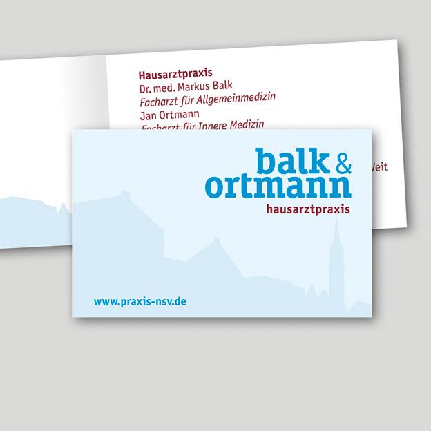 Balk & Ortmann, Hausarztpraxis, Terminkärtchen