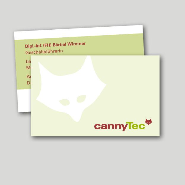 cannyTec, Visitenkarten