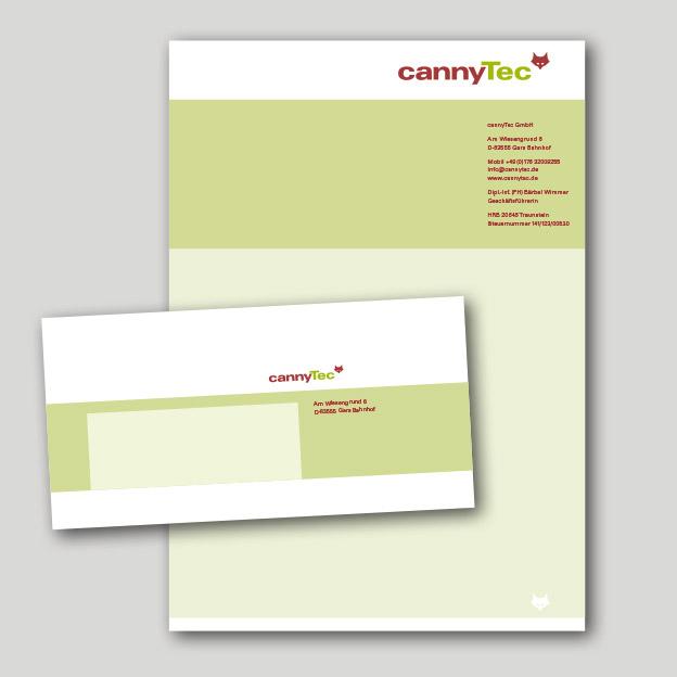 cannyTec, Briefbogen und Kuvert