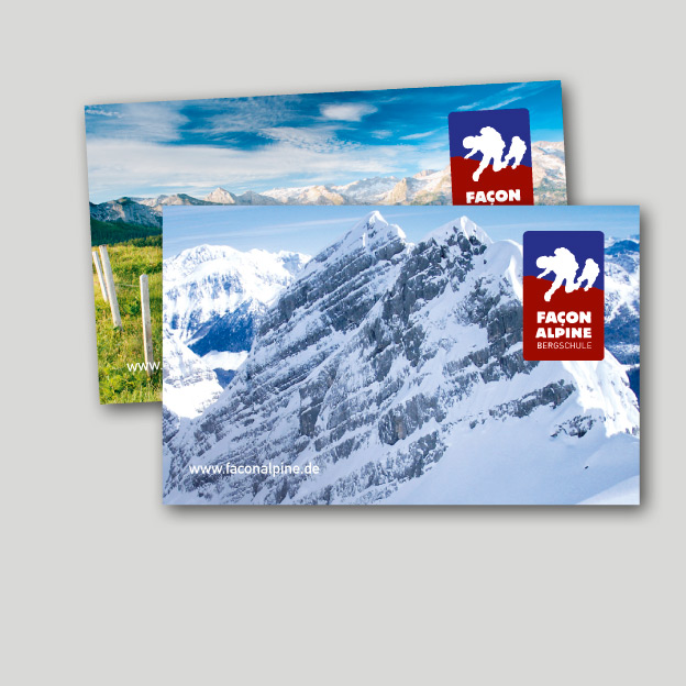Façon Alpine, Visitenkarten