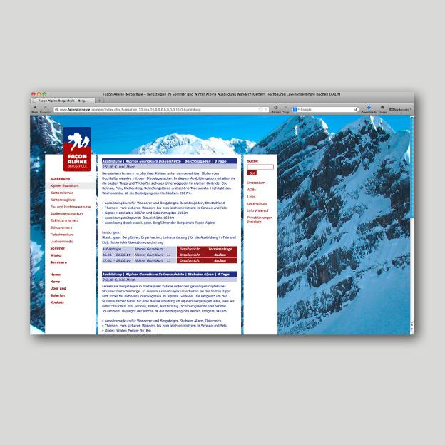 Façon Alpine, Website