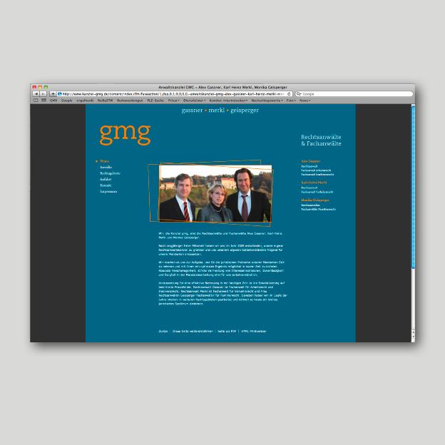 Kanzlei gmg, Website