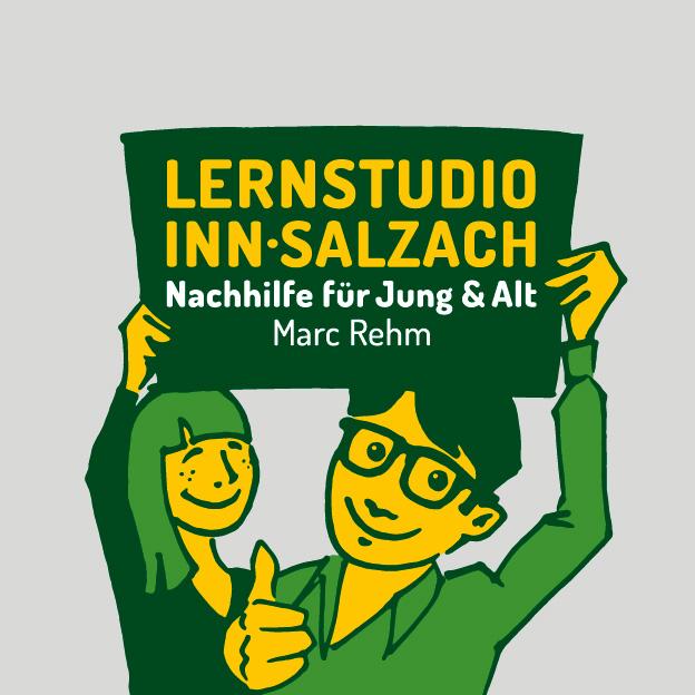 Lernstudio Inn-Salzach, Wort-/Bildmarke, Illustration