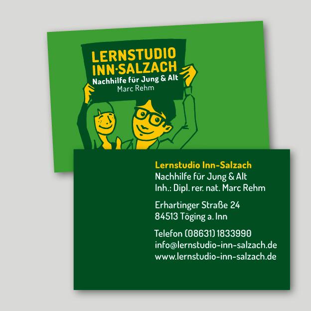 Lernstudio Inn-Salzach, Visitenkarte