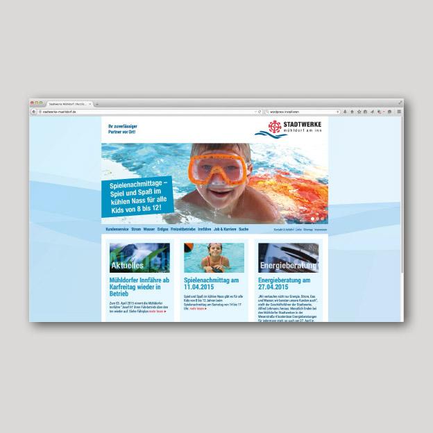 Stadtwerke Mühldorf am Inn, Homepage (mit CMS und responsive)