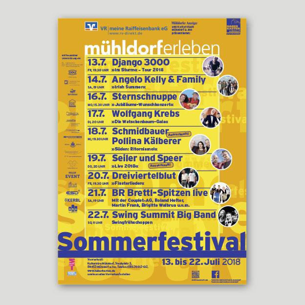 Sommerfestival, Übersichtsplakat