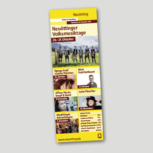 Stadt Neuötting, Kulturreferat, Übersichtsplakat