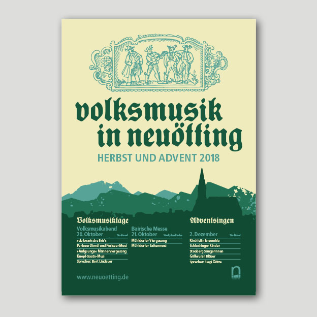 Volksmusik in Neuötting, Plakat