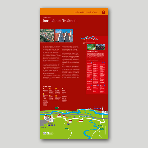 Stadt Neuötting, 7-Kirchen-Radweg, Informationsstele