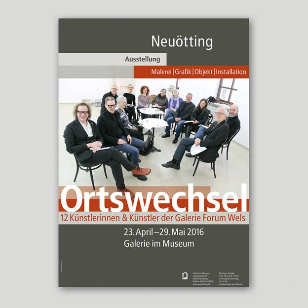 Stadt Neuötting, Kulturreferat, Ausstellungsplakat