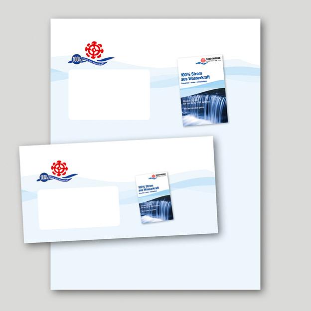 Stadtwerke Mühldorf, Versandtaschen und Kuverts