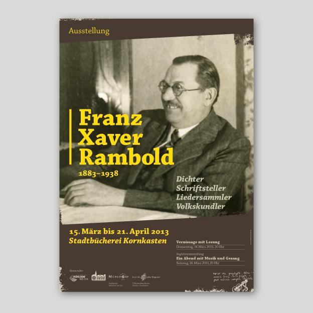 Ausstellung »Franz Xaver Rambold«, Plakat