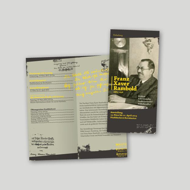 Ausstellung »Franz Xaver Rambold«, Informationsfaltblatt