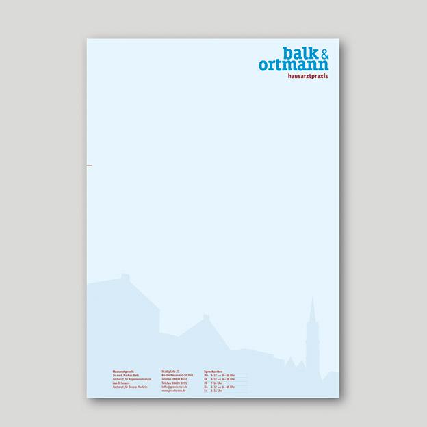 Balk & Ortmann, Hausarztpraxis, Briefbogen