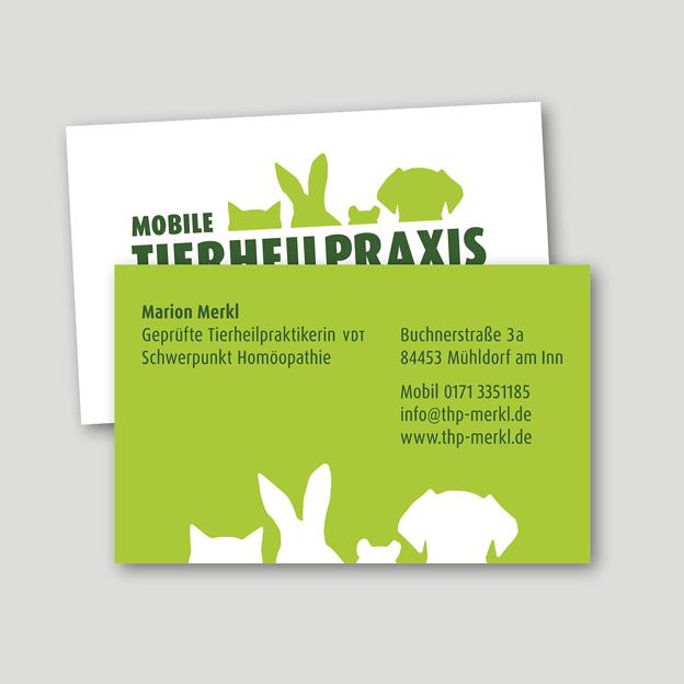 Tierheilpraxis Merkl, Visitenkarten