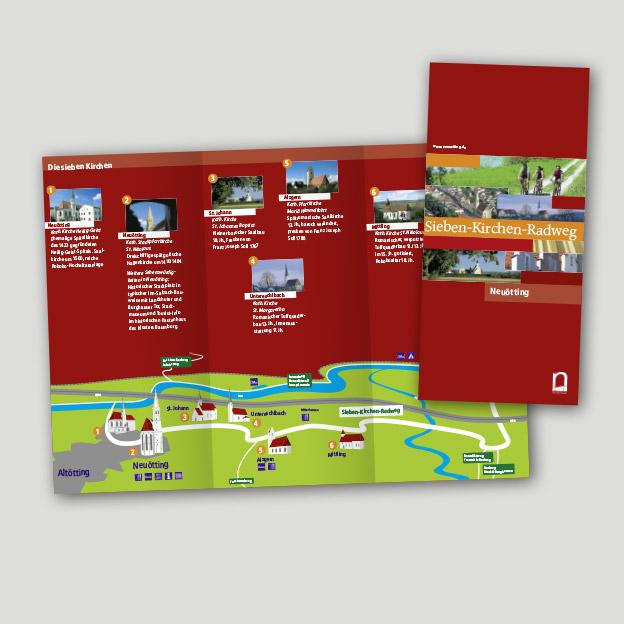 Stadt Neuötting, 7-Kirchen-Radweg, Informationsfaltblatt