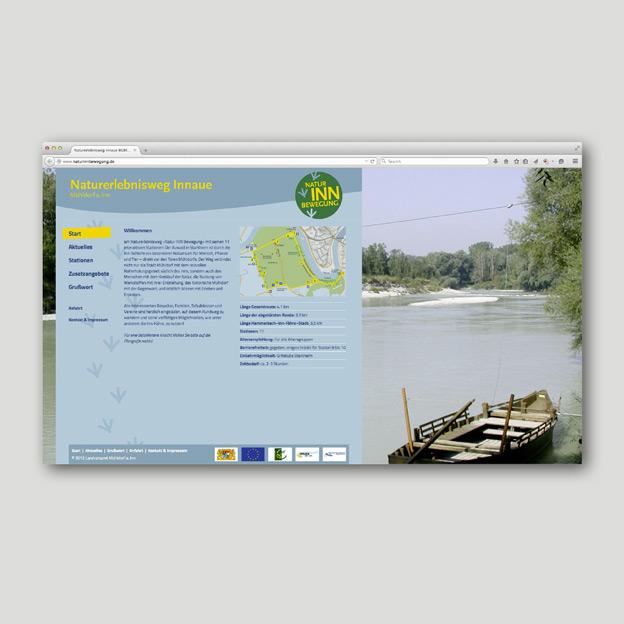 Natur INN Bewegung, Homepage