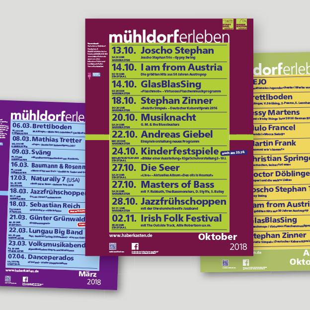 Stadt Mühldorf, Kulturbüro, Monatsplakate