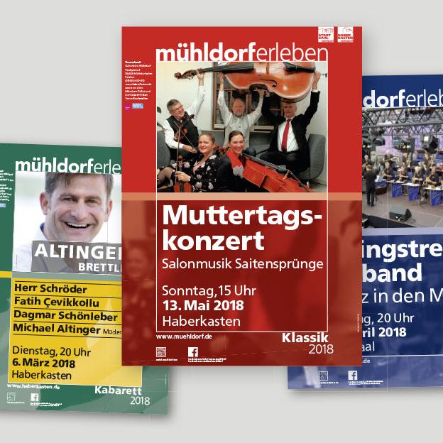 Stadt Mühldorf, Kulturbüro, Plakate