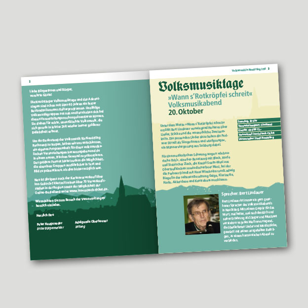 Volksmusik in Neuötting, Programmheft, Innenseite