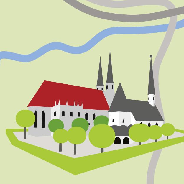 Tourismusverband Inn-Salzach, Übersichtskarte mit Sehenswürdigkeiten