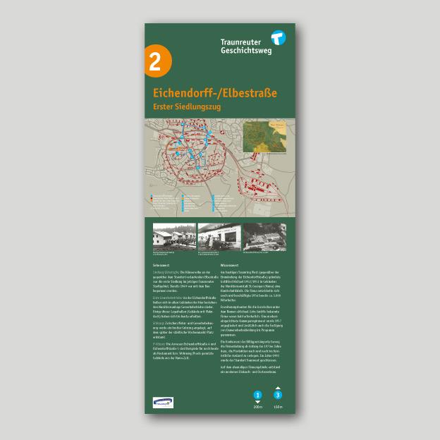 Stadt Traunreut, Geschichtsweg, Informationstele